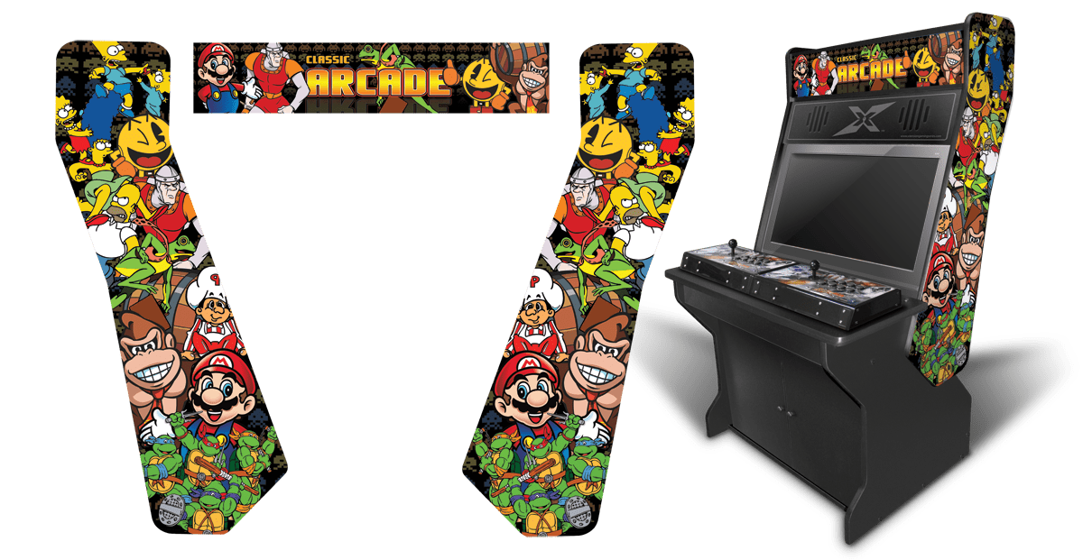 Customer submitted arcade classics 2 inspired graphics for Room wraps