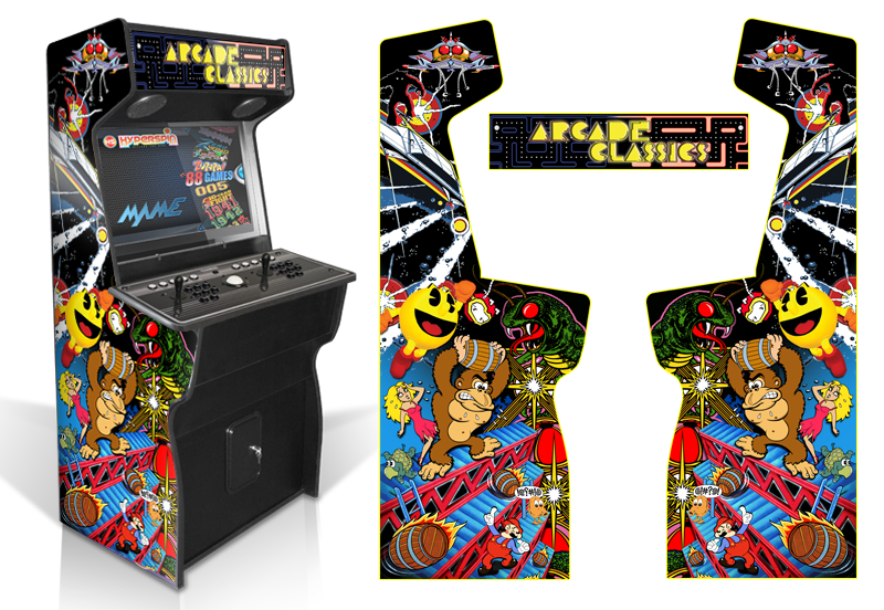 Classic arcade inspired arcade graphics game room graphics for Room wraps
