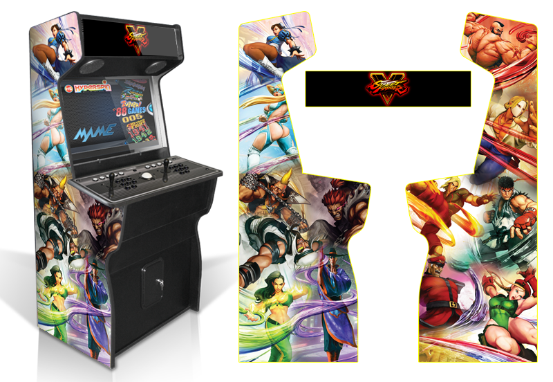 Custom Permanent Full Size Graphics Game Room Graphics