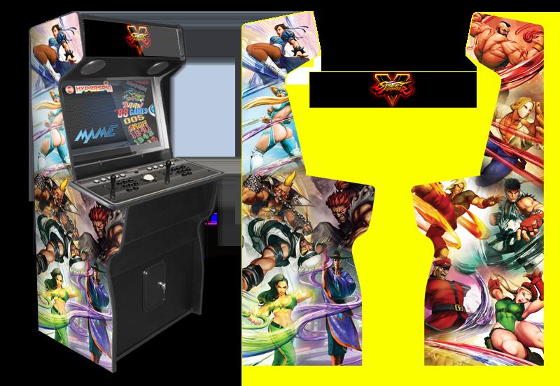 Custom Permanent Full Size Graphics Game Room Graphics