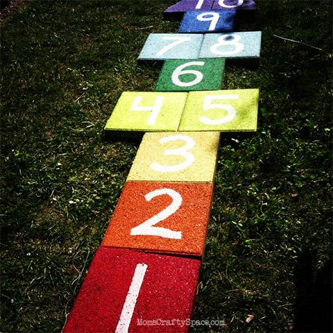 Rainbow Hopscotch