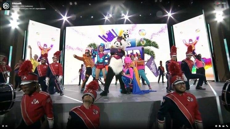 Dançarinos abrem conferência Ubisoft.