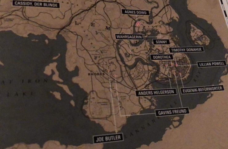Red Dead Redemption 2, mapa, Red Dead Redemption