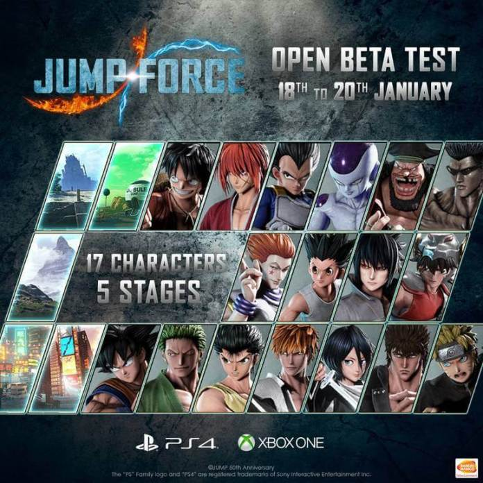 Jump Force, Beta aberto
