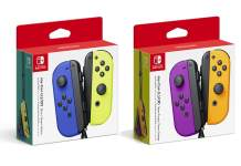 Nintendo, controles Joy-Con, Joy-Con Blue, Neon Yellow, Neon Purple, Neon Orange