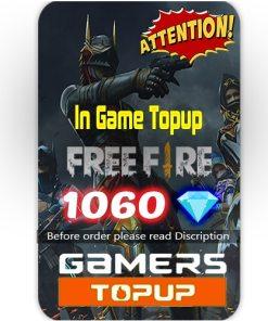 Free Fire 1060 Diamond Topup