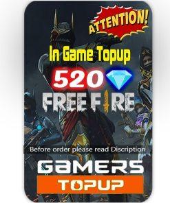 Free Fire 520 Diamond Topup