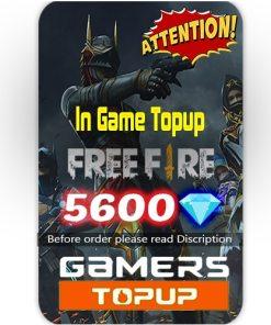 Free Fire 5600 Diamond Topup