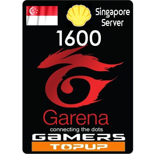 Garena Shells 1600 ( SG )