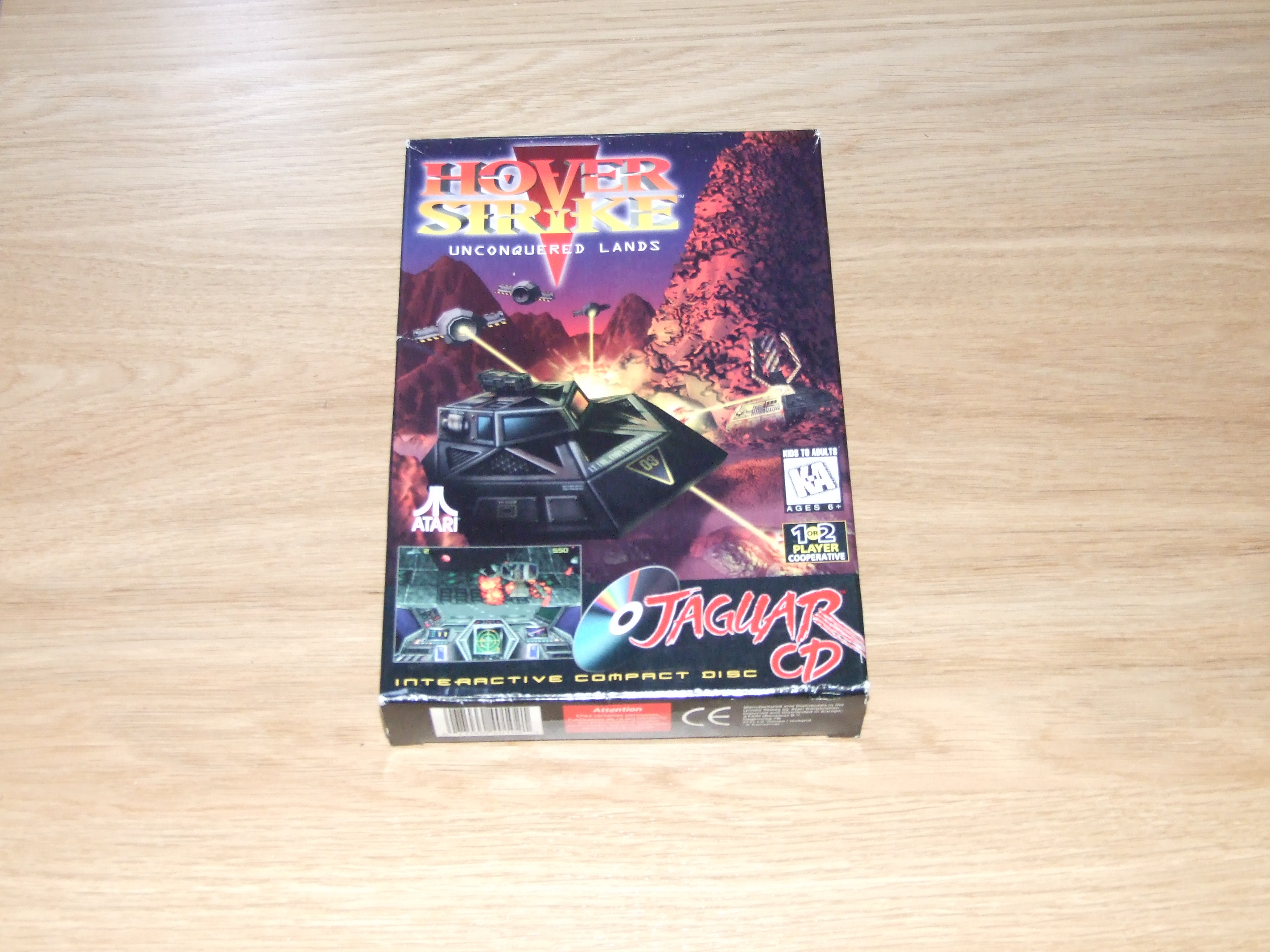Hover Strike: Unconquered Lands for the Atari Jaguar CD box, on it's own.