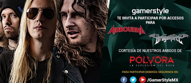 Día del gamer: gana accesos para DragonForce y Airbourne cortesía Pólvora Rock