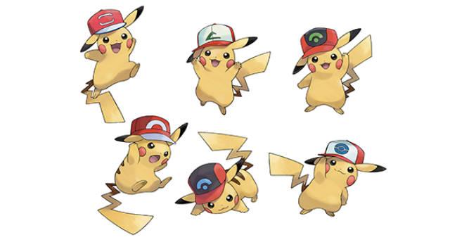 Pokemon Sun y Moon incluirán a Pikachu con gorras de Ash