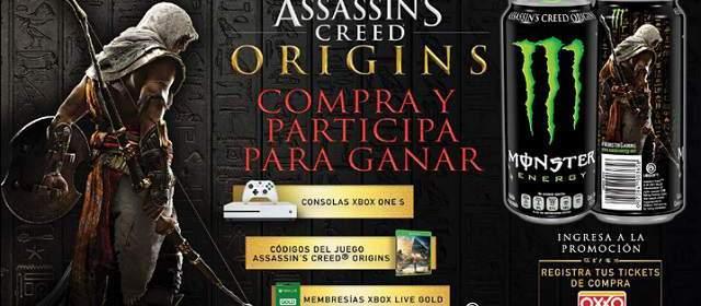 Assassin's Creed Origins y Monster Energy traen grandes regalos