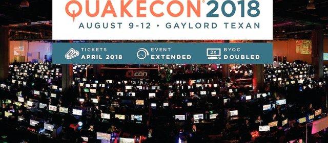 Conoce todos los detalles de la Quakecon 2018