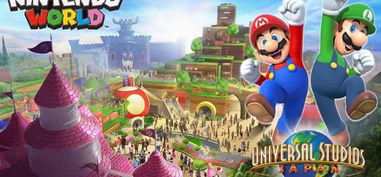 El edificio de Super Nintendo World está siendo realizado