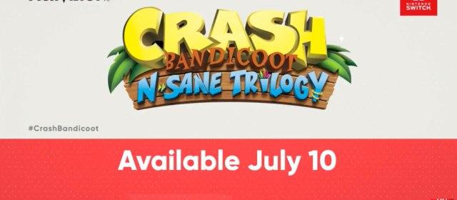 Lo crean o no Crash Bandicoot N'Sane Trilogy llega a Switch