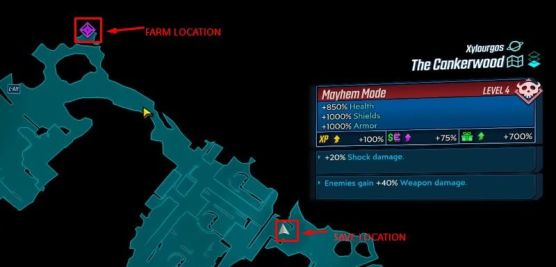 Save location for mutant BL3