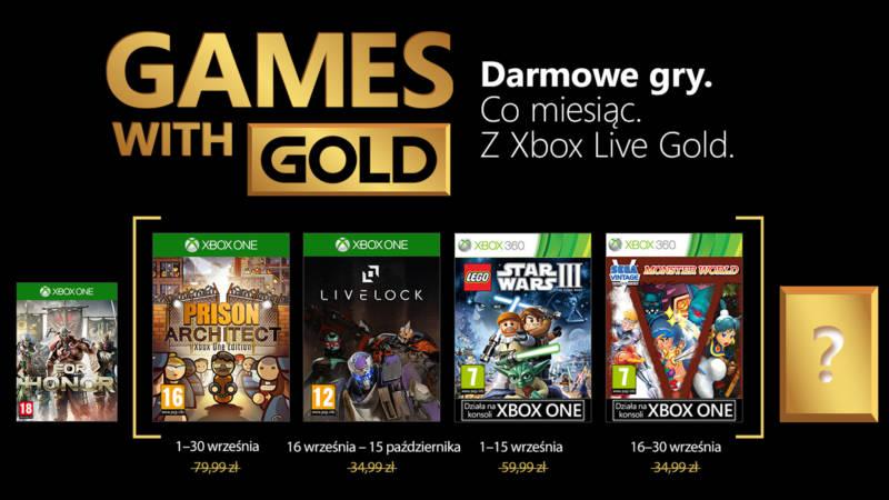 Games With Gold Wrzesien 2018