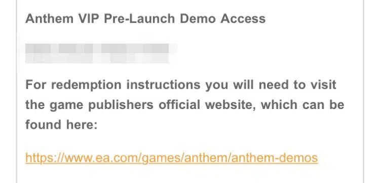 Anthem Vip Demo Kod