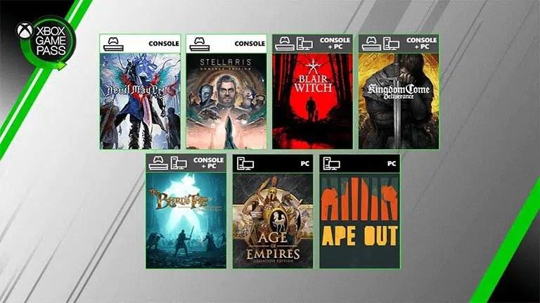 Xbox Game Pass sierpień 2019