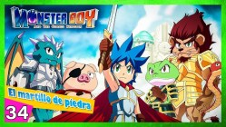Monster boy and the cursed kingdom Las tres reliquias el hacha de piedra
