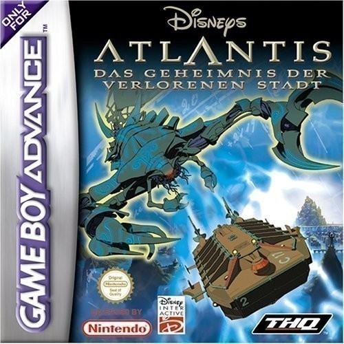 Gameboy Advance Atlantis Geheimnis der verlorenen Stadt The Lost Empire Cover