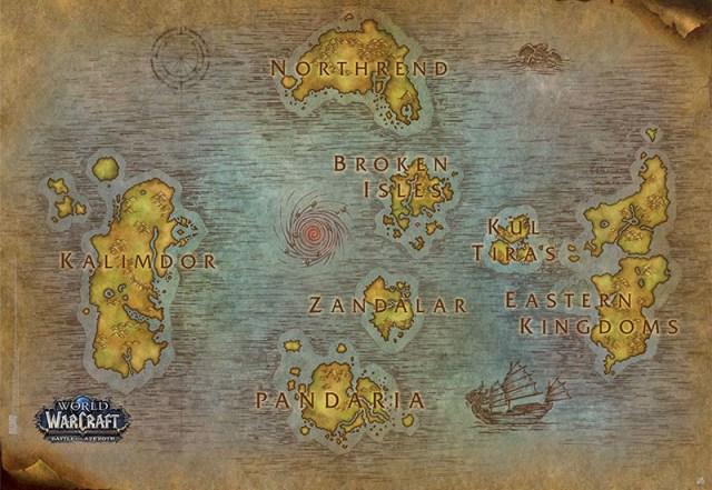 Mapa de World of Warcraft (Battle for Azeroth)