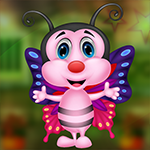 G4K Beautiful Smiling Butterfly Escape