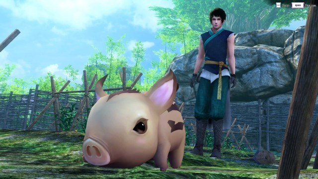 This cute pig is the best piece of character design in the entire game. Notice it's not very good character design.