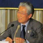 Tokyo 2020 President Tsunekazu Takeda speaking at Foreign Correspondents of Japan Club (Tokyo 2020 Photo)