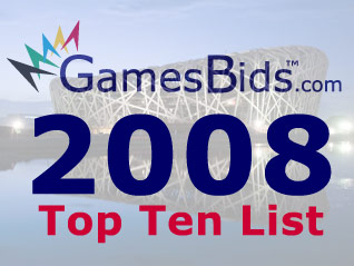 GamesBids.com to Release 2008 Top 10 List of Olympic Bid Stories