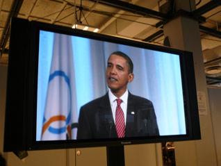 U.S. President Barack Obama speaks to the IOC.