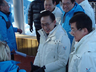 Korean President In PyeongChang Ahead of Official IOC Visit