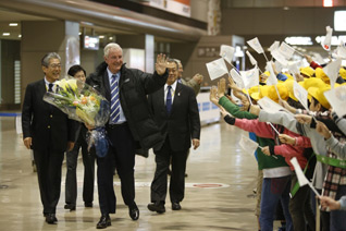 IOC Commission Arrives To Inspect Tokyo 2020 Olympic Bid