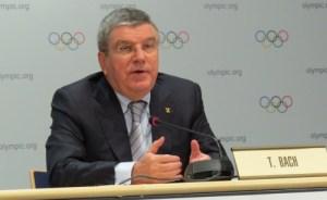 IOC President Thomas Bach at 127th Session in Monaco December 6, 2015 (GB Photo)