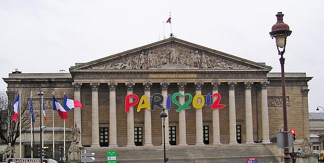 Palais Bourbon In Paris during 2012 Olympic Bid Campaign in 2005