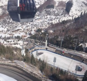 Madeu Speed Skating Venue as seen from gondola to Shymbulak (GamesBids Photo)