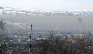 Smog obscures Almaty's skyline, February 15, 2015 (Photo: GamesBids)