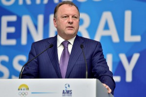 SportAccord Chief Marius Vizer makes opening remarks at SportAccord General Asssembly in Sochi, April 20, 2015 (SportAccord Photo)