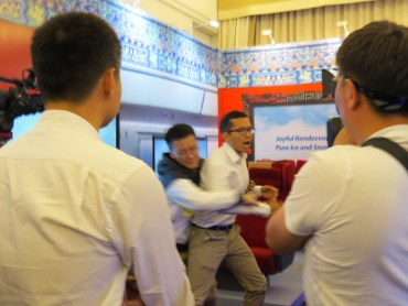 Tibetan Protesters Interrupt Beijing 2022 Presentation In Lausanne