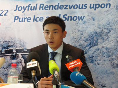 Chinese NHL Draftee Andong Song Speak in Kuala Lumpur (GamesBids Photo)
