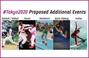 Five new sports were recommended for inclusion by Tokyo 2020