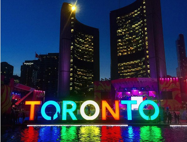 Toronto's City Hall during the 2015 Pan Am Games