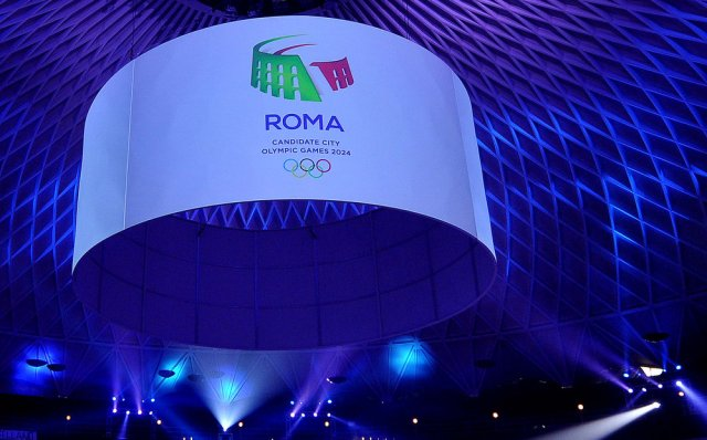 Rome 2024 Logo Unveiled on December 14, 2015 at Palazzetto dello Sport (CONI Photo)