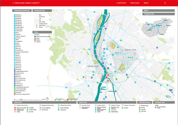 Budapest 2024 Venue Map (Bid Book Capture)