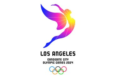 LA 2024 Reveals Sun-Bound Soaring Angel as Olympic Bid Logo