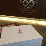 LA 2024 Bid Book delivered to IOC on USB drive (LA 2024 Photo)