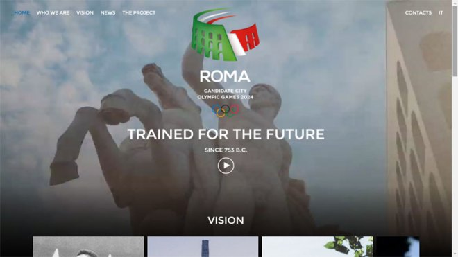 New Rome 2024 Website at www.Roma2024.com