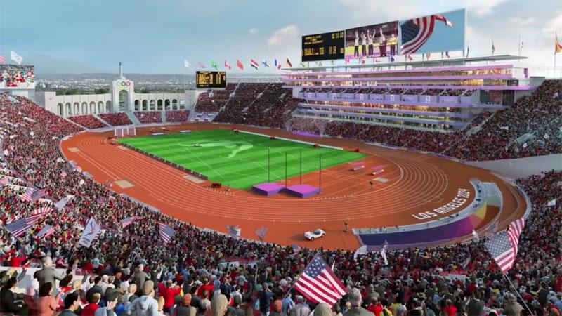 LA 2024 Reveals Plans for Refurbished Olympic Coliseum and Adjacent Aquatics Venue