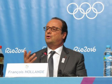 French President Hollande Says Experience Fighting Terror An Advantage To Paris 2024 Olympic Bid